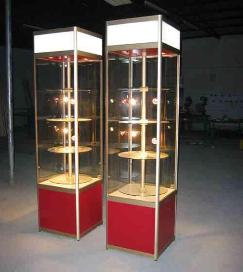 天津厂家直销玻璃展柜定制立式钛合