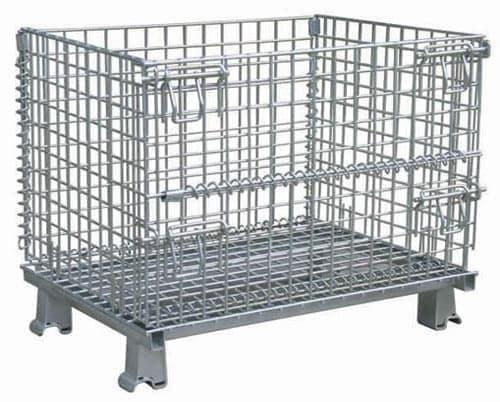 供应重庆固联折叠式金属仓储笼