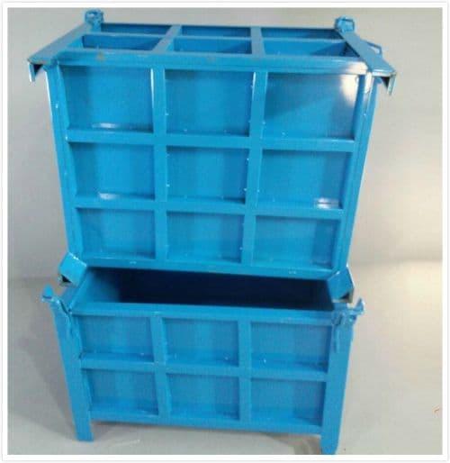 铁屑箱废料回收箱钢制周转箱金属筐