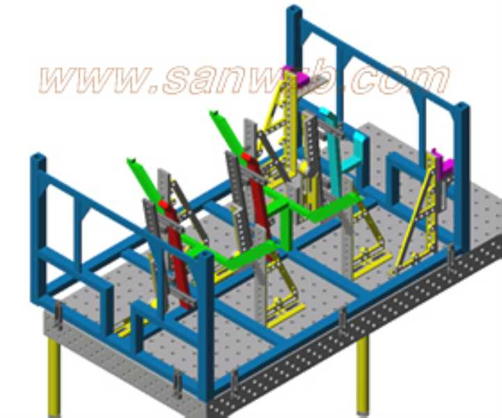 仓储货架焊接柔性组合工装夹具