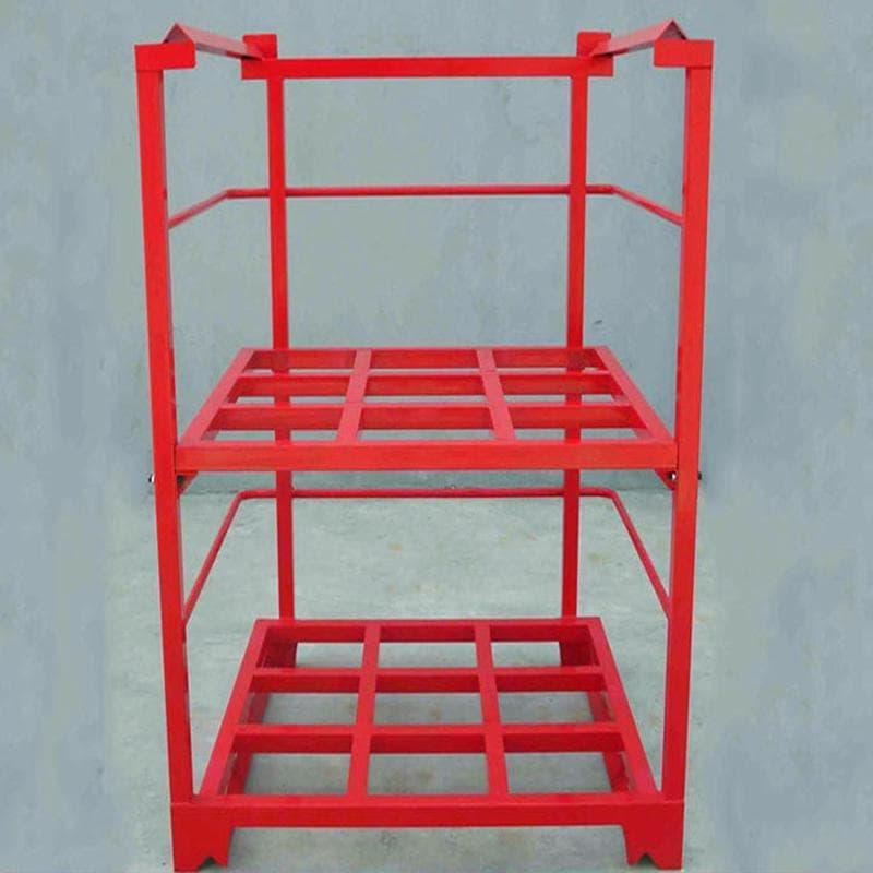 巧固架堆垛架钢托盘仓储笼物料箱