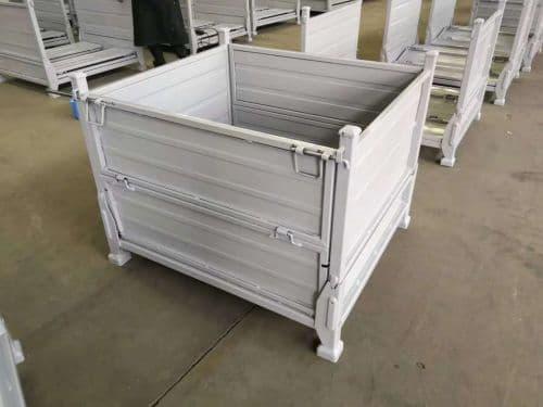 江苏厂气缸体铁筐运输箱金属周转箱