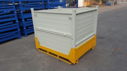 工厂直供金属钢制料箱回收废品专用