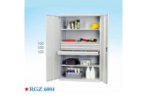 五金重型工具柜、加厚车间铁皮柜安全带锁多功能双开门柜
