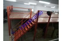 顺德纺织业仓库货架顺德工厂货架阁楼平台重型阁楼式货架定制