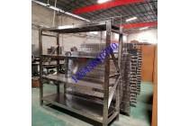 广东304不锈钢货架定制不锈钢储物架201仓库货架厂家供应