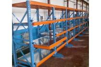 全开式重型模具货架抽屉式储藏货架半开式车间抽屉货架